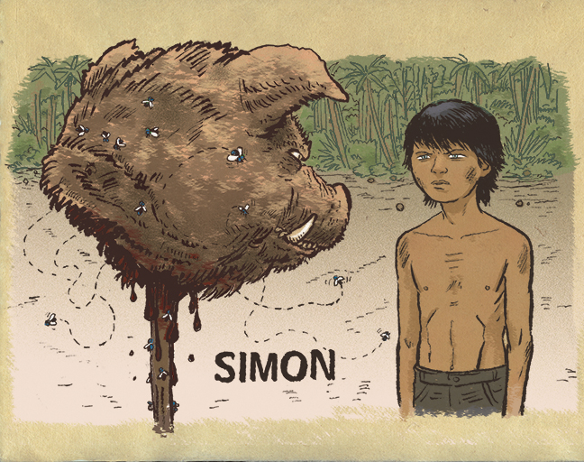 lord of the flies simon Simon is a main character in lord of the flies summary  simon is a character who represents peace and tranquillity and positivity he is often seen wandering off by himself in a dreamy state and is prone to fits of fainting and hallucination, likely epileptic in nature.
